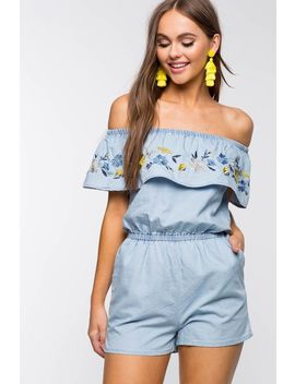 Adley Embroidered Romper by A'gaci