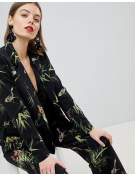 Warehouse Barbican Collection Tropical Printed Blazer by Warehouse