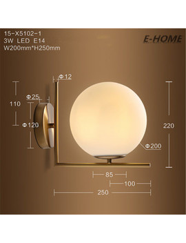 Modern Minimalist Nordic Creative Individuality Living Room Bedroom Bedside Restaurant Corridor Aisle Round Wall Lamp by Old K Lighting Co., Ltd Store