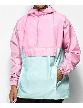 Odd Future Color Block Pink & Teal Anorak Jacket by Odd Future