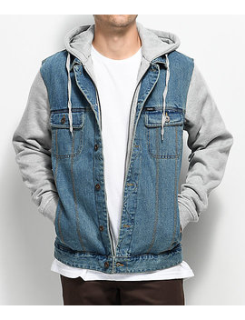 Matix Union Trucker 2 Fer Light Denim & Grey Jacket by Matix
