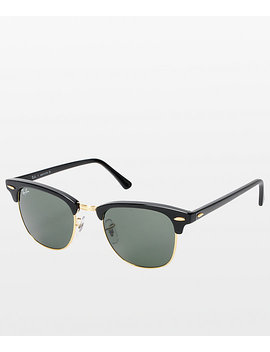 Ray Ban Clubmaster Black & Gold Sunglasses by Ray Ban
