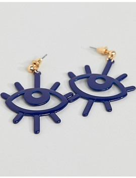 Asos Design Color Pop Eye Earrings by Asos Design