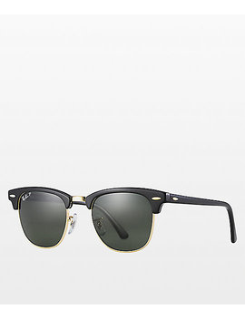 Ray Ban Clubmaster Black & Gold Polarized Sunglasses by Ray Ban