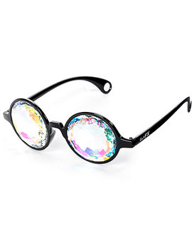 Glo Fx Kaleidoscope Crystal Rainbow Black Glasses by Glofx