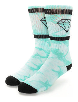 Diamond Supply Co. Diamond Rock Sport Crystal Blue Crew Socks by Diamond Supply
