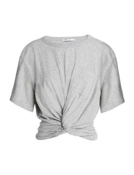 Twist Front Cotton Jersey T Shirt by T By Alexander Wang
