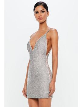 Peace + Love Silver Embellished Bodycon Mini Dress by Missguided