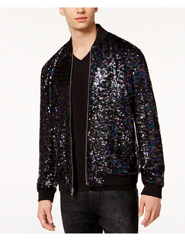 I.N.C. Men's Sequin Bomber Jacket, Created For Macy's by Inc International Concepts