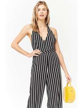 Stripe Halter Jumpsuit by Forever 21