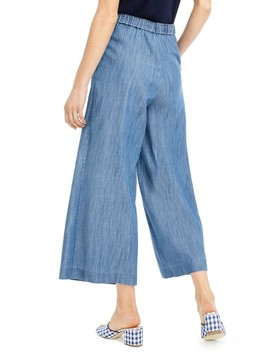 J.Crew Wide Leg Crop Chambray Pants by J. Crew