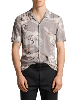 Romanji Slim Fit Short Sleeve Sport Shirt by Allsaints