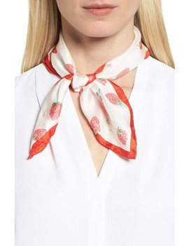 Tossed Berry Silk Bandana by Kate Spade New York