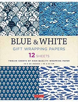Blue & White Gift Wrapping Papers: 12 Sheets Of High Quality 18 X 24 Inch Wrapping Paper by Tuttle Publishing