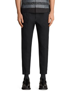 Tallis Pleated Cotton & Wool Trousers by Allsaints