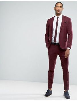 Only & Sons Skinny Suit In Maroon by Asos Brand