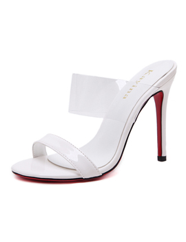 Dijigirls Heeled Sandals Vogue Slippers Women Leisure Pvc Transparent Crystal Shoes Sexy Slippers Women's High Heel Shoes by Lo Ve