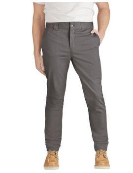 Dickies Mens Flex Slim Skinny Fit Twill Work Pants Gravel Gray Wp803 Vg by Dickies