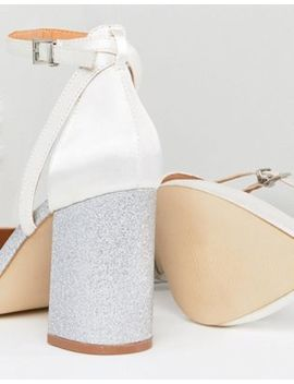 Be Mine Bridal Lissy Ivory Satin Block Heeled Shoes by Be Mine