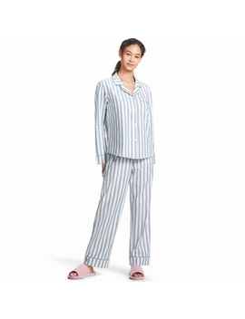 Women Cotton Piping Pajamas (Long Sleeve) by Uniqlo