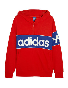 City London Cotton Blend Terry Hooded Top by Adidas Originals