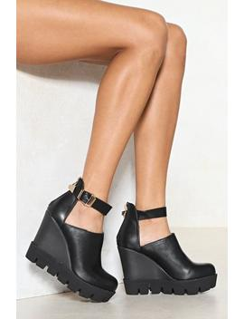 Gimme More Vegan Leather Wedge by Nasty Gal