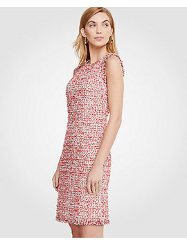 Tall Textured Tweed Fringe Shift Dress by Ann Taylor