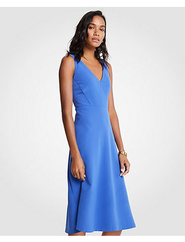 V Neck Midi Flare Dress by Ann Taylor
