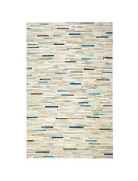 Patchwork Teal Cowhide Rug by Pier1 Imports