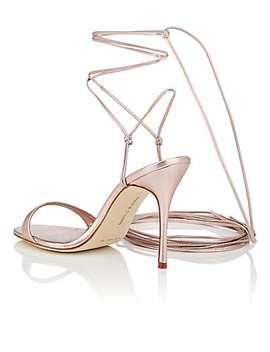 Prishipla Metallic Leather Sandals by Manolo Blahnik