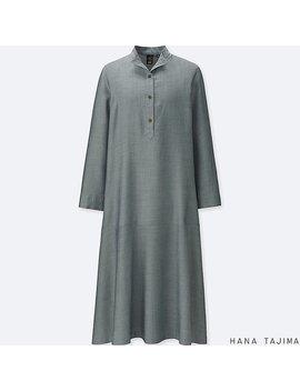 Women Tencel Long Sleeve Shirt Dress by Uniqlo