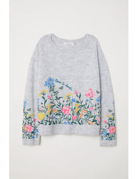 Knitted Jumper With Embroidery by H&M