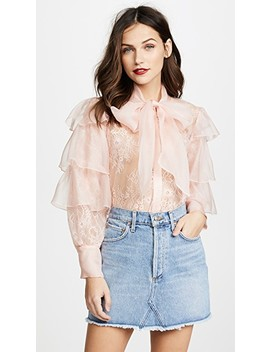 Talulah Ruffle Tier Blouse by Alice + Olivia