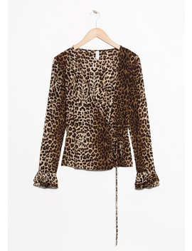 Leopard Print Wrap Top by & Other Stories