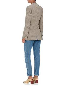 Houndstooth Wool Two Button Blazer by Stella Mc Cartney