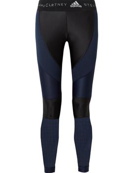 Mesh Paneled Climalite Stretch Leggings by Adidas By Stella Mc Cartney