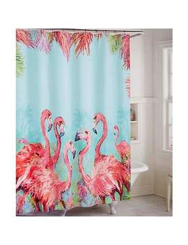 Leoma Lovegrove Pink Power Shower Curtain by Bealls Florida