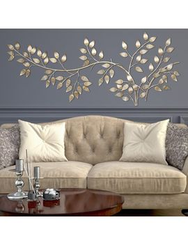 Stratton Home Decor Brushed Gold Flowing Leaves Wall Decor by Stratton Home