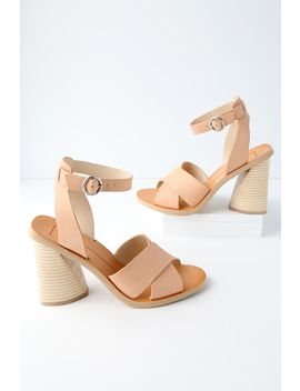 Athena Natural Leather Ankle Strap Heels by Dolce Vita