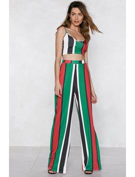 Stripe Place Stripe Time Crop Top And Pants Set by Nasty Gal