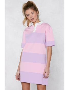 Stripe Down The Line Shirt Dress by Nasty Gal
