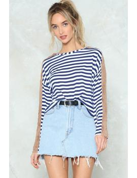 Point Of Difference Striped Sweater by Nasty Gal