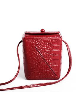 New Crocodile Pattern Women's Small Bag 2018 Genuine Leather Box Handbag Messenger Bags Ladies Mini Shoulder Bag Cute Phone Bag by Recheng Store