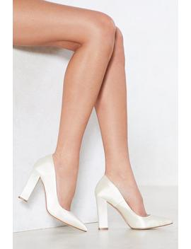 Satin The Bar Court Heel by Nasty Gal