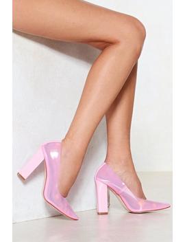 Barbie Girl Perspex Court Heel by Nasty Gal