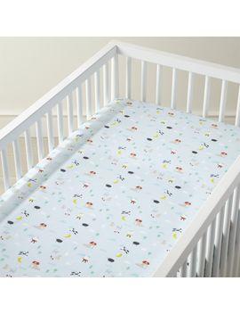 Organic Nursery Rhymes Crib Fitted Sheet by Crate&Barrel