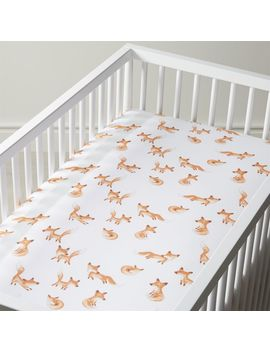 Organic Fox Crib Fitted Sheet by Crate&Barrel
