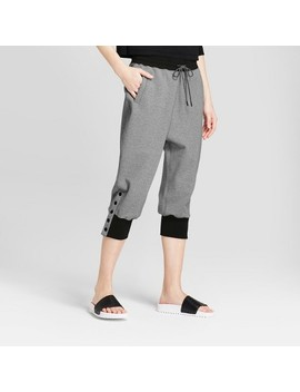 Hunter For Target Women's Ankle Snap Drop Crotch Joggers With Pockets   Gray by Hunter For Target