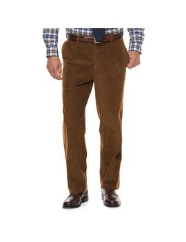 Men's Croft & Barrow® Classic Fit Pleated Corduroy Pants by Croft & Barrow