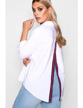 Plus May Sports Trim Open Back Shirt by Boohoo